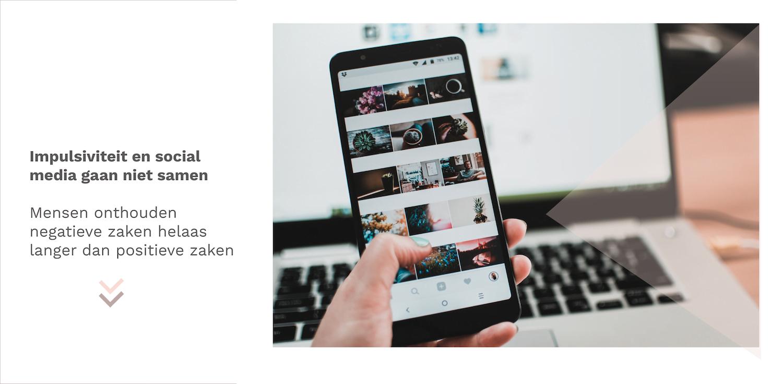 Impulsiviteit en social media gaan niet samen