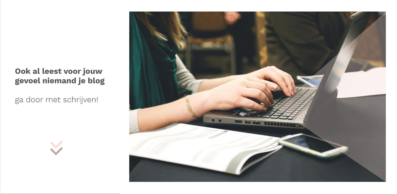 Lees voor jouw gevoel niemand je blog?